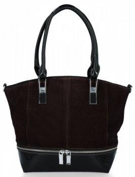 Elegantné dámske tašky Silvia Rosa pravá semišová / Čokoláda z ekologickej kože