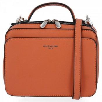 Elegantné Dámske malé crossbody tašky od David Jones Orange
