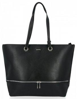Klasické dámske tašky vo veľkosti XXL od David Jones čierny