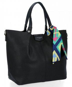 David Jones dámska taška XL Shopper Crossbody taška čierna