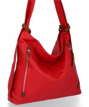 Bee Bag univerzálna dámska XL taška s funkciou Layla červeného batohu