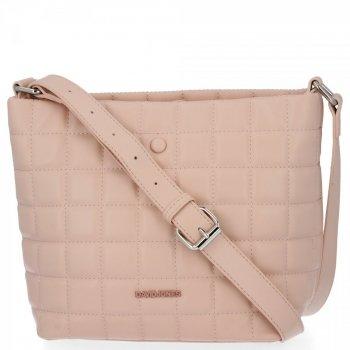 Prešívané dámske tašky David Jones práškové ružové
