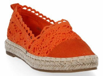 Oranžové módne dámske espadrily od Lady Glory