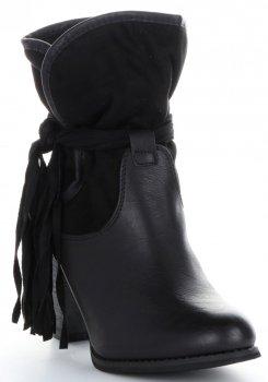 Dámske podpätky členkové topánky Lady Glory čierny