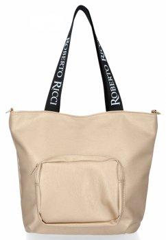 Roberto Ricci Značkové dámske nákupné tašky v XL Zlotých veľkostiach