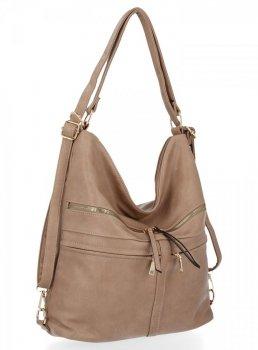 Bee Bag univerzálna Dámska Lauren taška s funkciou batohu tmavo béžová