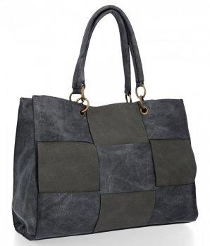 Modne Torebki Damskie Andrea Massi Shopper Bag Szara