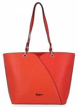 Klasická dámska XL taška David Jones tmavo oranžová