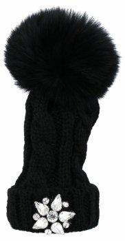 Kľúčenka na klobúk peŘaženky s čiernou hviezdou