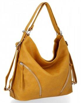 BEE Bag univerzálne dámske tašky s funkciou Madison žltý batohu