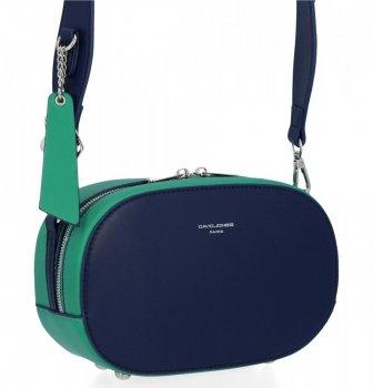 Univerzálne Dámske tašky Messenger David Jones Tmavo modrá / Zelená