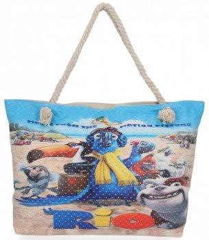 Dámska otvorená taška je ideálna na leto s módnym viacfarebným dizajnom Rio