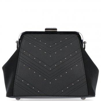 Elegantné tašky David Jones messenger pre ženy, upevnené Bigel, čierne