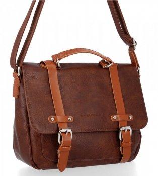 Univerzálna dámska taška na messenger v štýle vintage David Jones hnedýa