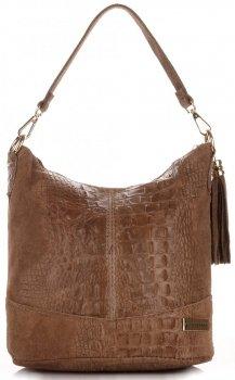 VITTORIA GOTTI kožené kabelky vyrobené v Taliansku Alligator Dugout