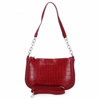 David Jones elegantné dámske kabelky módne Crossbody tašky so zvieracím vzorom Červená