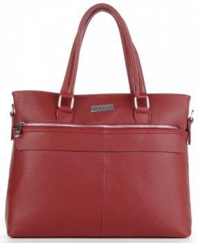 Vittoria Gotti Klasická kožená Aktovka taška pre ženy A4 talianskej výroby Burgundsko
