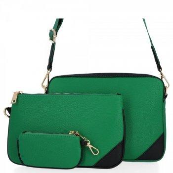 Univerzálne Dámske tašky Messenger Herisson Dragon zelený