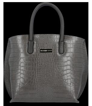 Elegantné kožené kabelky Vittoria Gotti so vzorom aligátora Grey