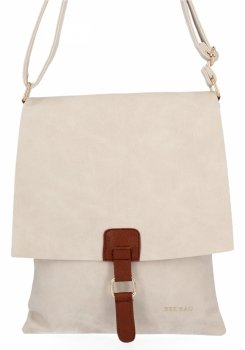 BEE Bag Módne Dámske Messenger Bag XL Napoli Béžová