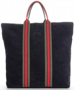 Módne pruhované kožené tašky značky Vittoria Gotti vyrobené v Taliansku s funkciou granátového batohu