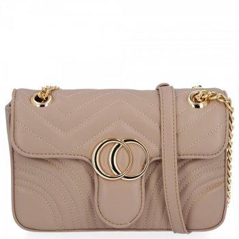 Elegantná dámska taška na messenger pre všetky príležitosti od Herisson dark beige