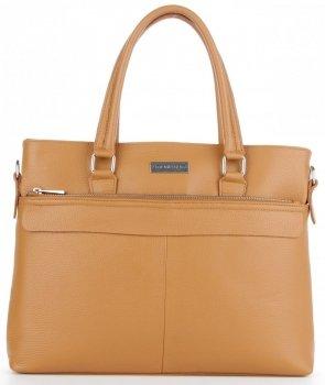 Vittoria Gotti Klasická kožená Aktovka taška pre ženy A4 talianskej výroby červená