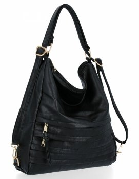 Dámske tašky značky Herisson s funkciou batohu čierny