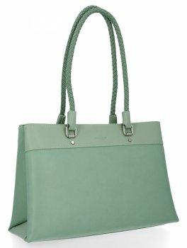 David Jones Klasické kabelky dámske dvojkomorové svetlo zelené