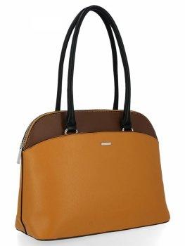 Klasická dámska taška z horčice David Jones