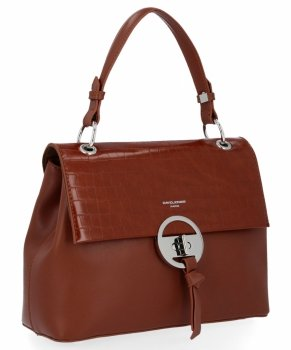 Elegantná dámska taška David Jones hnedý