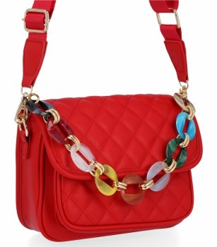 Módna dámska prešívaná taška Herisson červený