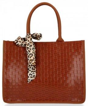 Módna dámska taška s šatkou od Herisson Ruda