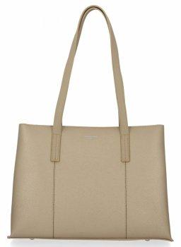 Klasická trojkomorová dámska taška David Jones zlotého