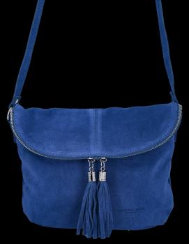 Univerzálna kožená príležitostná taška na messenger vo veľkosti M od Vittoria Gotti Cobaltowa