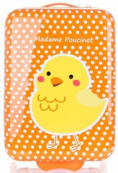 Detský polka-dot kufor s kuracím mäsom od Madisson Multicolor-Orange