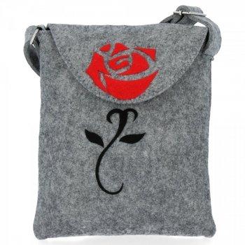 Štýlová dámska taška Bruno Rossi Rose svetlo šedá