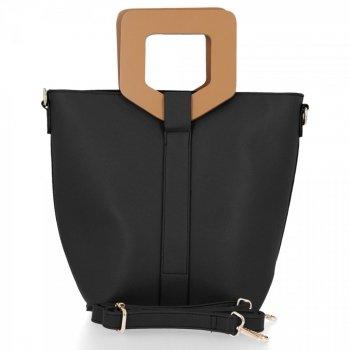 BEE BAG módna dámska taška Venezia Čierna
