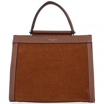 Dvojkomorové tašky pre ženy elegantné hnedé puzdro David Jones