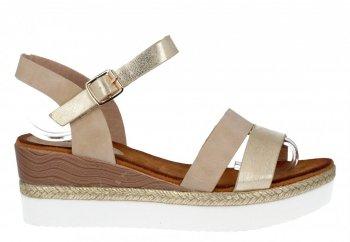 Béžové značkové sandále na platforme Lady Glory