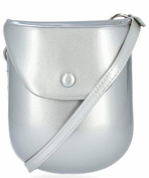 David Jones Firemná dámska taška Patent Kožená taška postriebrená