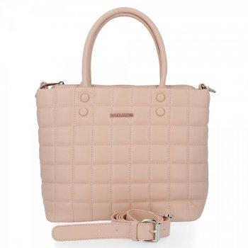 David Jones elegantná dámska taška Prešívaný ružový prášok