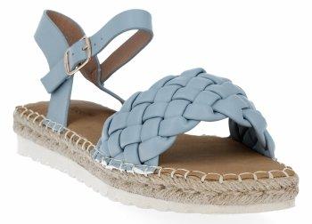 Modré dámske espadrille sandále s väzbou Bellucci