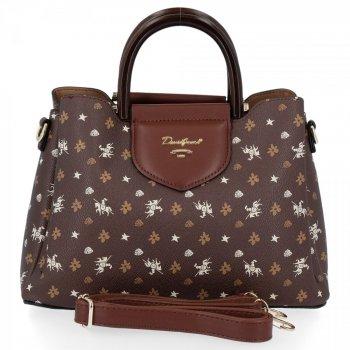 David Jones módna taška dámska taška cez rameno 3 kamery čokoláda