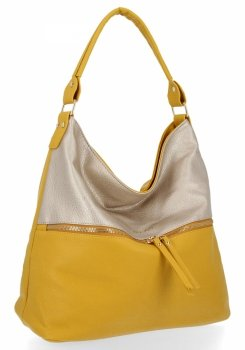 Bee Bag štýlová univerzálna dámska kabelka XL Zelia Žltá / Zlotá