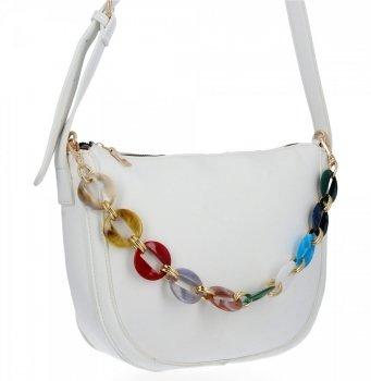 Herisson Firemná dámska taška na Messenger perfektná príležitostná Biela