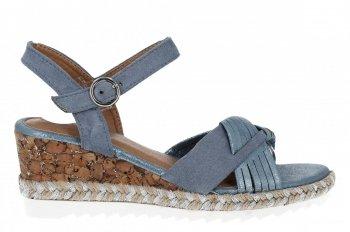 Modré módne dámske klinové sandále od Lady Glory