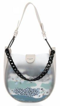 David Jones módna dámska taška s kozmetickou taškou svetlo béžová