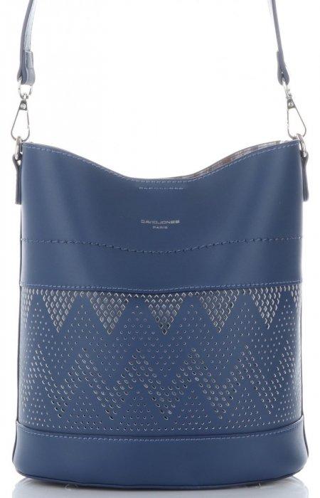 Dámské kabelky listonošky s kosmetikou David Jones ažurová Modrá ... 231969fc37a