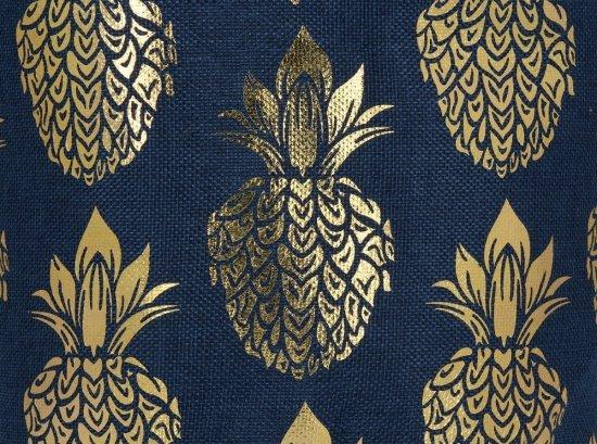 Módní Dámské Batohy vzor v ananasu Tmavě modrý a zlatý